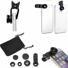 Fish Eye   Wide Angle Micro Lens 3 in1  Camera Kit for iPhone 5G 4S Samsung
