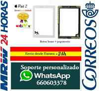 PANTALLA TACTIL IPAD 2 + BOTON HOME BLANCA BLANCO DIGITALIZADOR CON ADHESIVOS