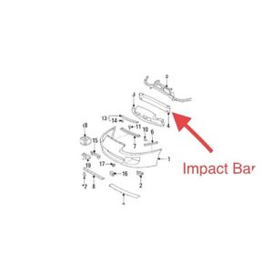 toyota supra mk4 1993-1998 Impact Bar