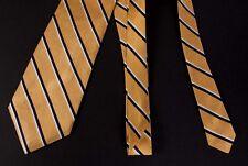 Ralph Lauren Necktie Tie Gold 100% Silk Made in USA