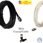 RG6 PPC F Black/White Coaxial Coax Cable Wire Satellite HD Antenna TV 0.5ft- lot