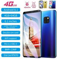 "Mate 20 Pro 6.1"" Unlock Smartphone 4GB+64GB Fingerprint Face  2 SIM Andriod 8.1"