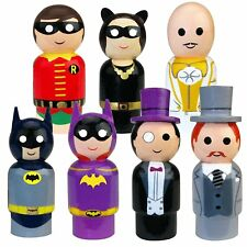 BATMAN CLASSIC TV SERIES PIN MATE FIGURE LOT CATWOMAN EGGHEAD ROBIN MOSC 2017