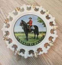 RCMP Mountie Souvenir Of Canada Collectors Plate NL2735 Hand Painted Japan VTG