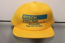 Vintage Bosch Power Tools Yellow Snapback Hat Baseball Cap