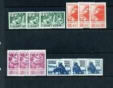 Algeria #B47-B50 X (3) (AL159) Complete 1946 Semi Postal, M, LH, FVF