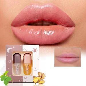 DEROL Plant Extracts Plumping Lip Serum Day+Night TOP Lip Plump Enhancer Makeup.