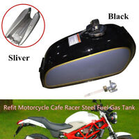Refit Motorcycle Bike Cafe Racer Fuel Gas Tank&Cap Switch Fit For Auto BENLY50S