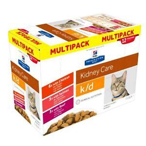 Hills Prescription Diet kd k/d Feline Chicken Plus Beef Plus Salmon Kidney Ca...