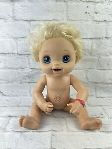 2010 Baby Alive Doll Curly Blonde Hair blue eyes GOES POTTY
