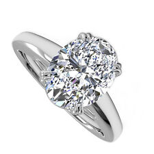 18kt J/K SI 2.00ct Oval Cut Diamond Engagement Ring Certified