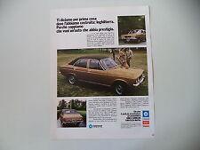 advertising Pubblicità 1973 SUNBEAM 1250 TC