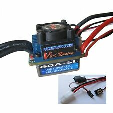 Hobbypower Racing 60A SL Brushless Speed Controller ESC for 1/10 1/12 Car