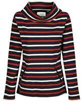 Seasalt Cowl neck Cotton Womens Striped Sweatshirt Jumper Sweater Top 10 12 16