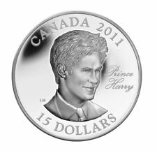 2011 Canada $15 Sterling Silver Coin - Prince Harry