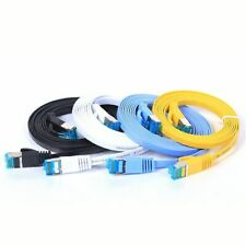 Cat6 Flat Ethernet Cable Rj45 Lan Cable Cord Networking Computer Router Laptop