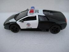 """Lamborghini Murcielago LP-640-4 Police Car, 5"""" Diecast 1:36 Pull Back Action Toy"""