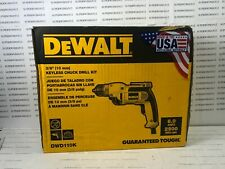 Dewalt Electric 8A 2500 RPM 3/8 in Keyless Chuck Drill W/ Cord DWD110K BRAND NEW