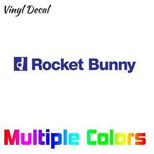 "Rocket Bunny Decal | Windshield Banner Sticker Wide Body 7"" - 36"""