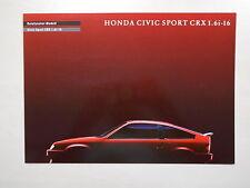 Catalogue HONDA CIVIC SPORT CRX 1.6i-16