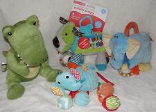 Baby Boy Soft Toy Lot Skip Hop Activity Puppy Croc in Socks Nat & Jules Rattles