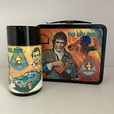 Vintage 80s The Fall Guy Metal Lunchbox and Thermos Aladdin Graphics on all side