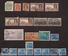 Collection de 1890 Onwards Indian Stamps Used voir scan pour dos et devant