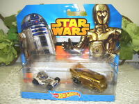 2014 Hot Wheels Star Wars Cars R2-D2 and C-3 PO Lot of 2