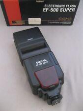 SIGMA ELECTRONIC FLASH EF-500 SUPER~CANON EOS SLR~ORIGINAL BOX~MANUAL~POUCH