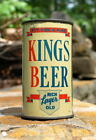 HANDSOME 1937 KINGS BEER O/I FLAT TOP BEER CAN! CLASSIC EARLY FLAT TOP!