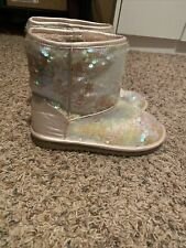 The Children's Place Flip Sequin Boots Girls Size 3Y