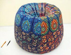 Handmade Franco Teodoro Cotton kantha Bohemian Bean Bag chair Pouf floor  BB36