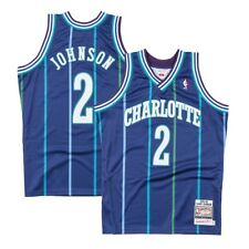 64a9c2bd4 ... purple 1995 all star throwback where to buy mitchell ness nba charlotte  hornets larry johnson jersey ae650 c3793 ...