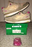 Diadora V7000 NYL II Sand Bright Rose Tan 11 Beige Red Sneaker Shoes 1 2 3 4 5 6