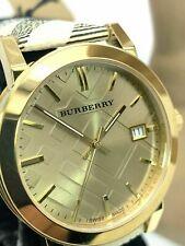 Burberry Women's Watch BU9026 The City Champagne Dial Haymarket Check Strap 38mm