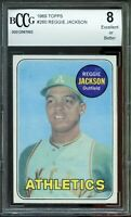 1969 Topps #260 Reggie Jackson Rookie Card Centered BGS BCCG 8 Excellent+