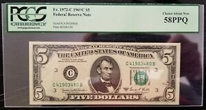 5 DOLLARS 1969 FEDERAL RESERVE NOTE GRADE 58