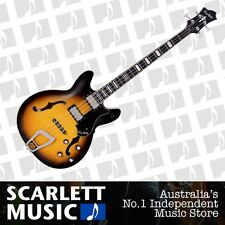 Hagstrom Viking Bass Semi Hollow Bass Guitar Vintage Burst w' Case *BRAND NEW*