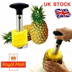 Pineapple Corer Slicer Peeler Cutter Parer Stainless Kitchen Easy Fruit Tool Kit