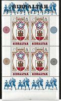 Gibraltar Scott #329a, Souvenir Sheet 1976 Complete Set FVF MNH