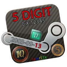Steam Account * 2003 * RARE 5 Digit * 17 Years * CS:GO 5 & 10 Year Coin