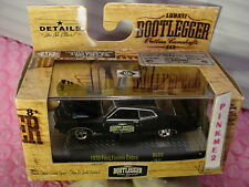 M2 Machines 1970 FORD TORINO COBRA∞Black∞Lunati BOOTLEGGER∞9800 WW∞BL02∞1/64