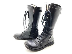 Angulus Damen Stiefel Stiefelette Boots Schwarz Gr. 37 (UK 4)