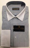 DONALD J. TRUMP  SIGNATURE COLLECTION MEN'S DRESS SHIRT NWT STRIPED GRAY