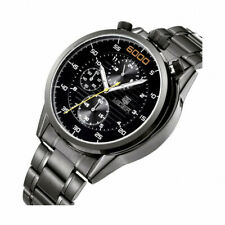 MEGIR Gym Fitness Coach Track Racing Stopwatch Top Crown Wrist Watch 6000 Black