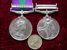 Replica Copy QEII Campaign Service Medal Cyprus Bar Full size Aged