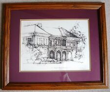 "Miami University ""Hall Auditorium"" Framed/Signed Print - Limited Edition #11/200"