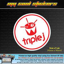 Triple J Vinyl Sticker Decal, JJJ 4X4 Ute Car Truck Toolbox Window Drum