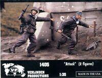 "2 Figures 2131 Verlinden 1//35 /""Under Fire!/"" USMC Marines Attacked Pacific WWII"