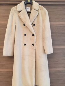 Zara cappotto in pelliccia sintetica